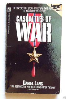 Casualties of War Daniel Lang Vietnam War Used Paperback Movie Tie In