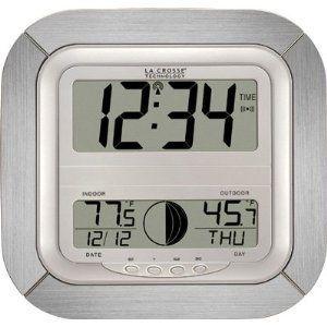 La Crosse Technology Atomic Digital Wall Clock Moon New