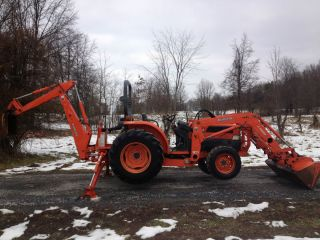 Kubota L4330 4x4 Diesel Tractor Loader Backhoe TLB Cheap Shipping