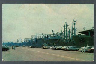 Aircraft Carrier USS Kula Gulf Postmark 1954 Cars Chrome