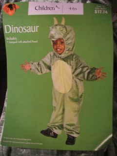 Plush Green Dinosaur Costume 4 6X Halloween Costume