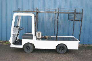 Taylor Dunn Flatbed Utility Cart 36V w Ladder Rack Used
