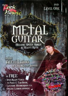 Alexi Laiho Metal Guitar Level One DVD iPod Ready 32 PG Book Free Rock
