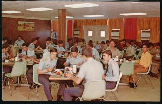 San Antonio TX Lackland Air Force Base Mess Hall Vintage Postcard Old
