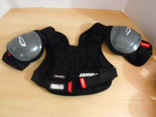 Childrens Brine Lacrosse Chest Shoulder Pads Ages 5 7