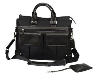 Euro Ladies Leather Shoulder Laptop Notebook Tote Bag