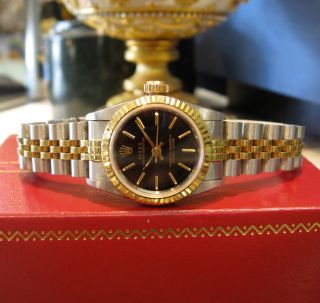 Ladies Rolex Oyster Perpetual Yellow Gold Stainless Steel Watch w