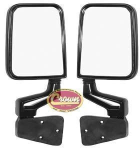 82200834K Crown Black OE Style Mirror Kit Jeep Wrangler TJ YJ 1987