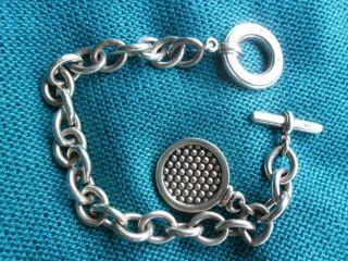 Lagos Sterling Silver Caviar Charm Bracelet 925