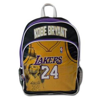 NBA Los Angeles Lakers 24 Kobe Bryant Jersey Large 16 Backpack Bag