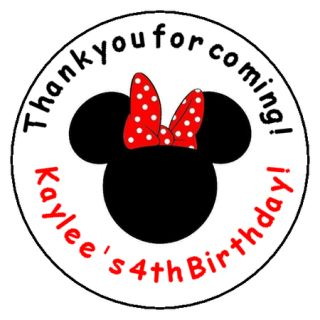 Minnie Mouse Birthday Favor Label Stickers Personalized for YOU 1 67