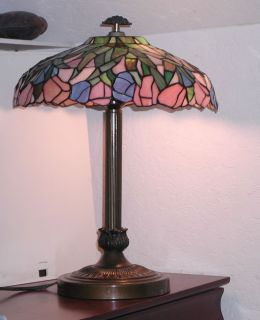 Antique Tiffany Style Stained Glass Lamp Shade – 15""