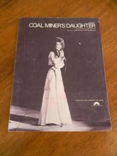 Coal Miners Daughter Loretta Lynn Copyright 1969 Sheet Music