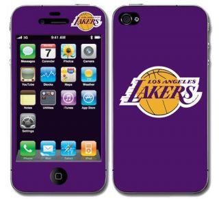 La Lakers Vinyl Skin Decal Cover iPhone 4 Sticker Body Guard Go Lakers