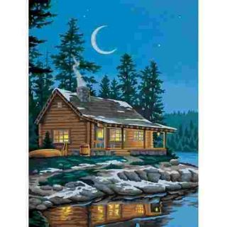 Lakeside Cabin Paint by Number Kit