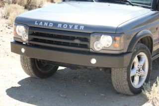Land Rover Discovery 2 II Front Bumper Black Steel Off Road Driving