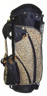 Birdie Babe Golf Womens Ladies Leopard Stand or Cart Golf Bag