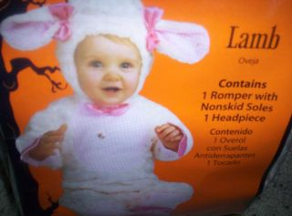Halloween Dress Up Infants Lamb Costume Size 0 6 Months