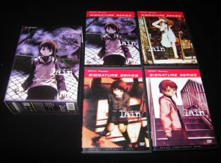 Serial Experiments Lain Complete Series 4 DVD Anime BoxSet Signature