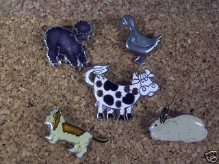 Farm Animal Cow Lapel Pins Hat Pins or Tie TACS 1