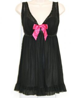 Lane Bryant Cacique $49 Embroidered Cup Babydoll Panty 18 20 Black New
