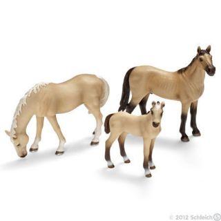 Akhal Teke Horse Family by Schleich Toy Horses Akhalteke