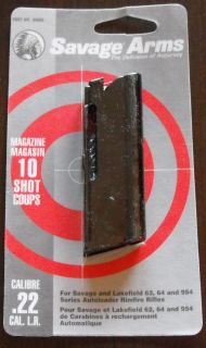 Savage & Lakefield Factory 10rd. Magazine Blued Steel .22LR 62 64 954