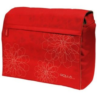 Golla 16 Red Laptop Messenger Bag Model G689 Gaia New 641933406196