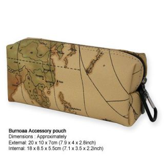 Burnoaa Organizer Bag Accessories Pouch Map B for Laptop Power Cords