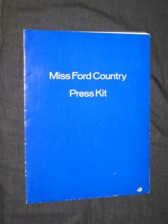 RARE Original 1974 Miss Ford Country Sandy Lankford Press Kit