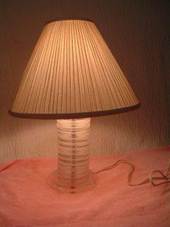 Lucite Acrylic Multi Disc Lamp Retro Mod Mid Century Modern