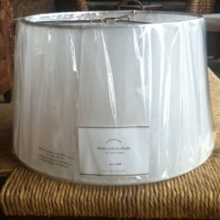 Pottery Barn Sheer Cotton Lamp Shade Small White NIP