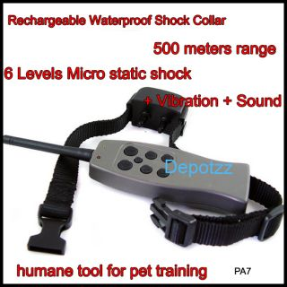 Rechargeable Big Large Remote Dog Training Shock Collar