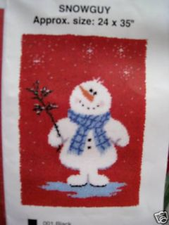 Latch Hook Rug Kit Snowman Winter Mary Maxim Exclusive