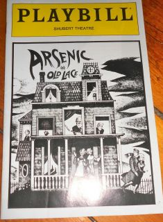 and Old Lace Playbill Shubert Boston 1987 Jonathan Frid Larry Storch