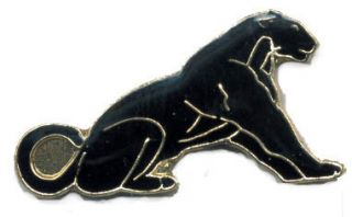 New Black Panther Lapel Hat Pin Jungle Animal Mammal Cougar Tie Tack