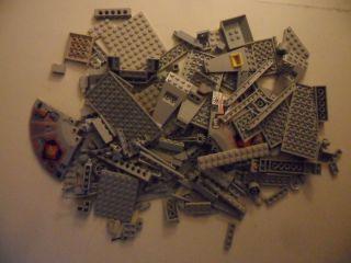 Large Lego Lot 250 Light Grey Pieces Parts Blocks Bricks
