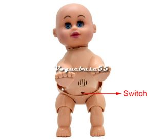 Crawling Pink Baby Doll Toy Baby Laugh Music Say Mama Daddy and Learn