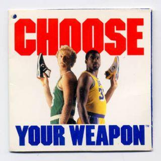 Johnson Larry Bird Converse Weapon Original Shoe Tag VG 1986 87 NBA