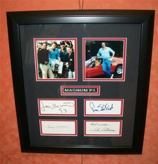 MAGNUM P I Signed Tom Selleck Larry Manetti Roger Mosley John