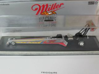 LARRY DIXON MILLER RACING SILVER SPLASH TOP FUEL 1 24 NHRA DIECAST