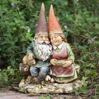 Couple Wife on Bench Outdoor Statue Patio Garden Yard Lawn Decor