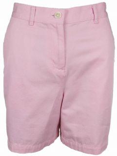 Ralph Lauren Womens Spring Classics Pink Cotton Shorts 10P Petite