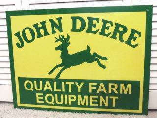 Equipment John Deere Metal Tractor Deer Sign Lawn Garden Tools