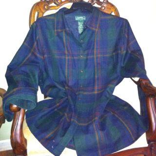 Lauren by Ralph Lauren Plaid Shirt Jacket 3X