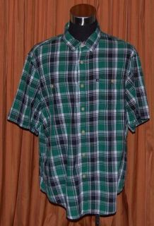 Polo Jeans Ralph Lauren Long Sleeve Green Black White Cotton Plaid