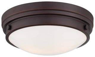 Light Flushmount Ceiling Fixture in Lathan Bronze 823 167