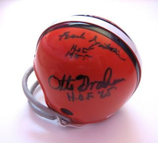 Cleveland Browns HOFers Signed Mini Helmet JSA COA