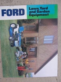 Lawn Yard Garden Equipment Promo Catalog Rider Mower Tiller Tractor J