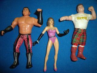 Wrestling action figure WWE WWF Brutus Beefcake Elizabeth Rowdy Roddy